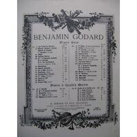 GODARD Benjamin Valse No 2 Piano ca1890 partition sheet music score