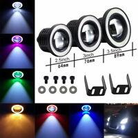 """Pair Angel Eyes Halo Car Fog Lights Lamp Projector DRL COB LED Bulbs 2.5/3/3.5"""""""