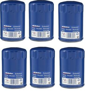New Genuine GM ACDelco Engine Oil Filter PF63  PF63F Set Of 6
