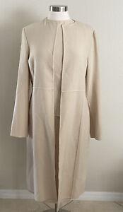 Saks Fifth Avenue Italy 3 Piece Set Jacket Top Skirt Ivory Vintage Wool Sz 14 16