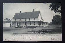 BEN MAC DHUI Summer Home of JOHN ALEX DOWIE Montague, MI postcard. ZION 1908