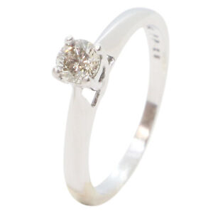 9ct White Gold Diamond Solitaire 0.20ct Engagement Ring