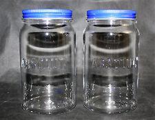 Absolut Wodka Vodka 2x Acryl Gläser Glas mit Deckel 2cl 4cl Longdrink NEU