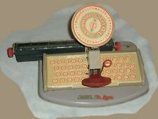 Vintage 1950's MARX Deluxe Dial Toy Typewriter, New York, NY, Tin,Like Original!