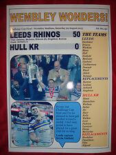 Leeds Rhinos 50 Hull Kr 0 - 2015 Challenge Cup final - souvenir print