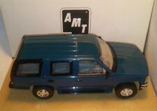 AMT ERTL 1995 Chevy Tahoe SUV Dealer Promo Promotional Car Model Teal Blue