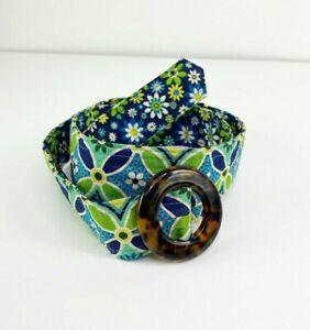 Vera Bradley Women's Blue Fashion Reversible O Ring Waist Casual Belt One Size