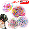 100X Hair Ties Ponytail Holder Elastic Rope Girl Kid Head-Band Hairbands Colors