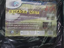 12 X 20' Black Shade Net Mesh Screen Garden Patio RV Nursery Canopy Sun Tarp