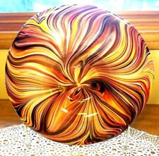 NIB SEALED Missoni Blown Glass Deco ART Deco Large Platter Muticolored