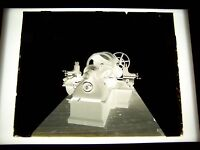 "ANTIQUE 8"" X 10"" GLASS PHOTOGRAPH NEGATIVE OF INDUSTRIAL MACHINE"