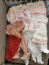 Lot Pyjama Dors Bien Pantalon Bonnet Bébé Fille Next H&M Tex 1 Mois