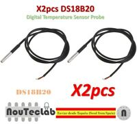 2pcs DS18B20 Waterproof Digital Temperature Sensor Probe NTC Thermistor Thermal