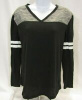 Women's XS Black and Gray PINK by VS Long Sleeve Top