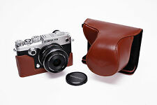 Genuine Real Leather Full Camera Case Bag Cover for Olympus PEN-F PEN F Brown