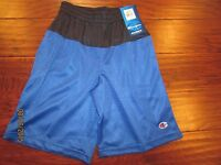 Boys Size 5 6 Royal Blue Black CHAMPION Athletic Mesh Basketball Shorts Lined