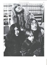 ROLLING STONES Brian John Lennon Yoko  magazine PHOTO / mini Poster 10x8 inches