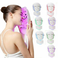 7 Colors LED Light Photon Face Mask Rejuvenation Skin Facial Therapy Wrinkle NEW