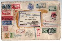 1931 JAPAN, FRANCE, ENGLAND, EGYPT, AUSTRALIA MIXED FRANKING COVER, ESPERANTO