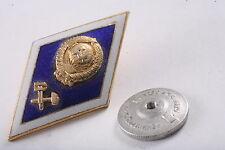 Soviet Pin Graduation Award Education Academy badge Technical Railroad