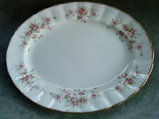 "Paragon ""Victoriana Rose"" Large Oval Serving Platter; 13"" x 10""."
