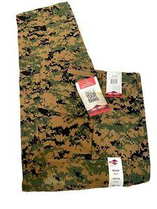 Woodland Digital Camo BDU Military Uniform Cargo Pant Medium TRU-SPEC New