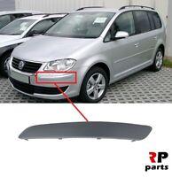 Pour VW Touran 2007 - 2010 Neuf Avant Pare-Choc Moulure Excellent Bord Gauche N