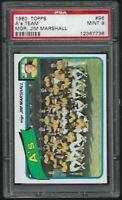 1980 Topps Oakland Athletics Team Card Jim Marshall #96 PSA 9 MINT SET BREAK