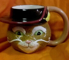Large Galerie Dreamworks Shrek Puss and Boots Cat Coffee Cup Mug 2004