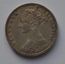 1849 Queen Victoria Godless Silver Florin Two Shillings Coin High Grade