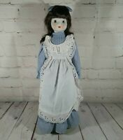 """Creepy Cloth And Porcelain Chinese Doll 16"""" Unknown Origin"""