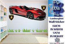 Lamborghini 3 en 1 autocollant mural enfants chambre à coucher salon decor grand.