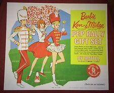 Vintage Barbie PEP RALLY Poster Reproduction Box Top for display