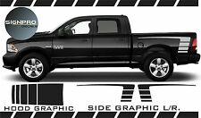 Dodge Ram 2009-17 Power Decals Side Hood Stripes Sport Fader Strobe Graphics