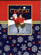 Mary Engelbreit Christmas Cheer Note Pad 60 Sheets Magnetic Closure - New