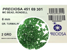 288 Preciosa Genuine Czech Crystals, Bicone Beads 6mm Green Turmaline color