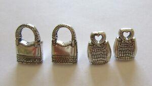 Brighton Push Pins- Set of Four- silver color- purses - 2 different designs