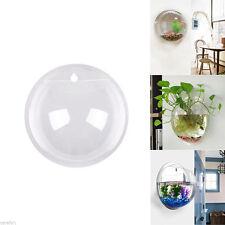Home Mounted Hanging Bubble Bowl Plant Fish Tank Aquarium Acrylic Pot Wall Decor
