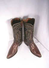 Vintage Justin Brown Leather Western Cowboy Boots 8.5 D