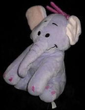 Doudou Peluche Eléphant Lumpy assis violet mauve parme ami de Winnie Disneyland
