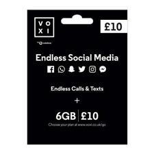 Vodafone VOXI PrePay SIM Card - Endless Social Media - 5G Ready