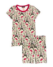 BedHead Girls' size 12 Hello Kitty Eiffel Tower Lounge Shirt & Short Set