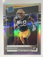 2020 Donruss Optic AJ Dillon Rated Rookie Silver Holo #174 Green Bay Packers