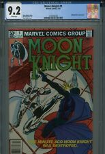 Moon Knight 9 CGC 9.2 Newsstand White Midnight Man Frank Miller cover Avengers