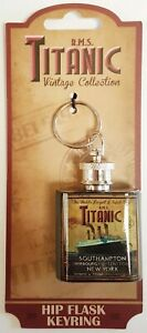 Titanic Vintage Hip-flask Collectors Metal Keyring (sg)