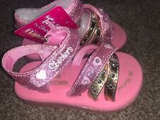 SKECHERS TWINKLE TOES  INFANT GIRLS SANDALS With Lights BNIB Size UK 4 Eur 21