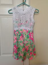 NWT LILLY PULITZER SIZES 00 or 8 RAZ BERRY CATTY SHACK ROMPER (Retail$198.00)