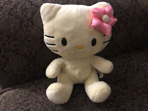 "Build A Bear Smallfrys Sunny Yellow Hello Kitty 7"" Small Plush Stuffed Animal"