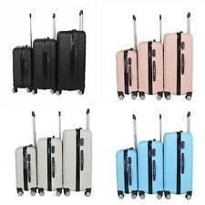 3PCS Hard Suitcase Case Trolley Travel Light Hand Cabin Case 4 Wheel Luggage Set