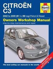 Haynes CITROEN C3 (02-09) EXCLUSIVE VIBE Owners Service Repair Manual Handbook